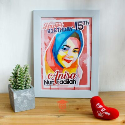 Pop Art Birthday Hijab 085878749975